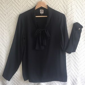 Anne Klein career blouse with bow detail